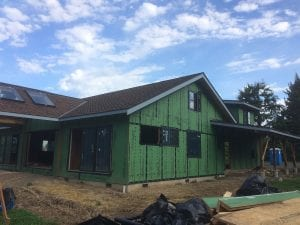 The Zip sheathing system requires a lot of tape and caulk to seal the house up